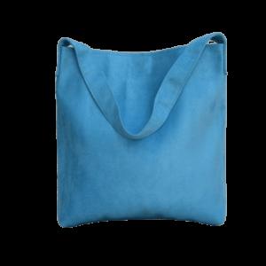 sac hobo bag suedine bleu ciel Aloée produit