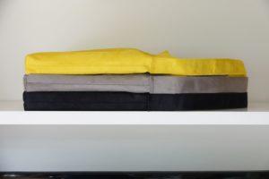 sac hobobag suedine noir gris jaune aloee