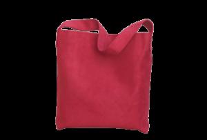 sac hobo bag suedine rouge Aloée produit