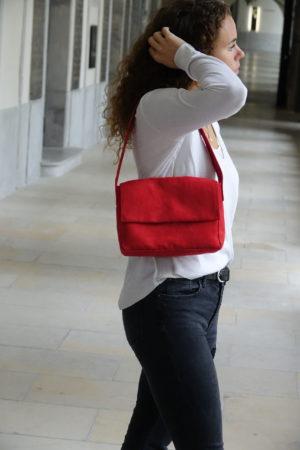 sac baguette rouge