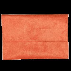 Pochette en suédine orange Aloée