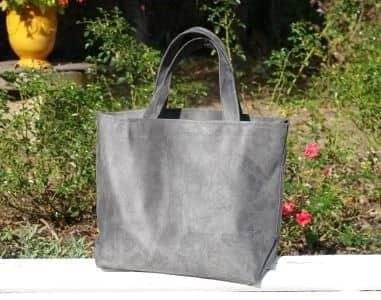 sac cabas suédine gris Aloée