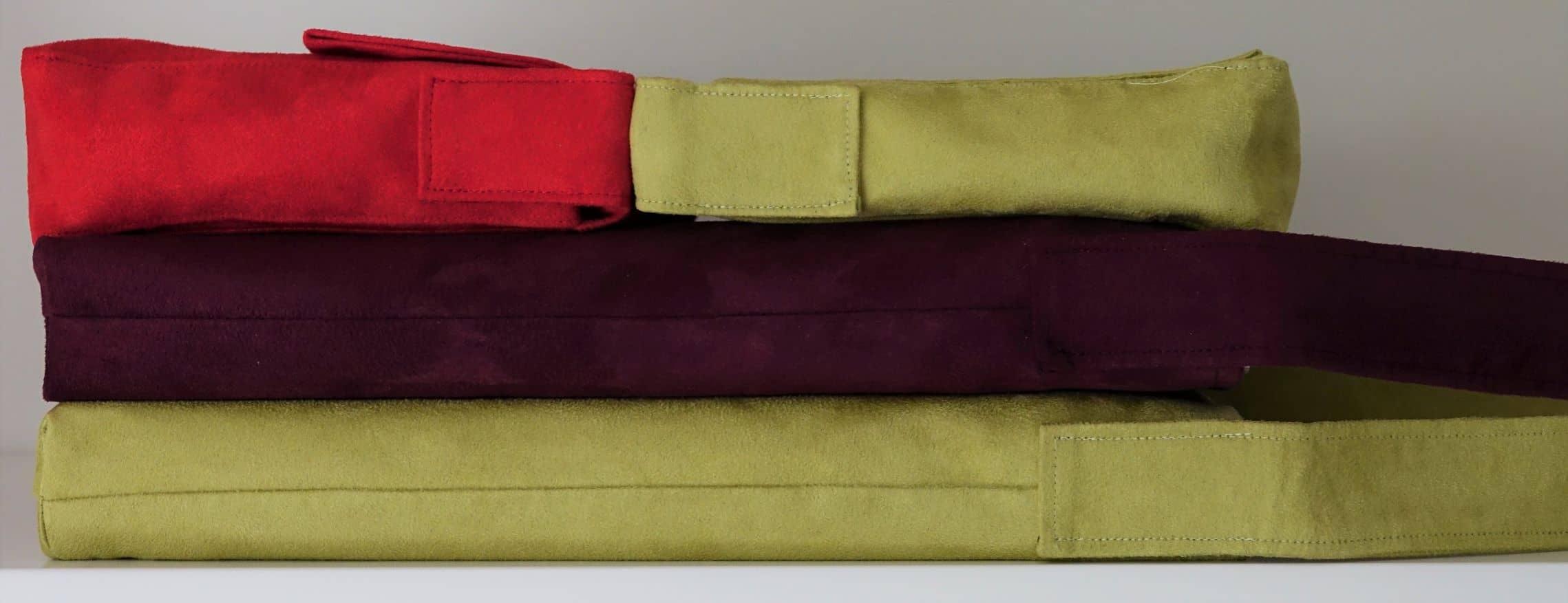 hobobag sac baguette suédine anis et rouge aloée